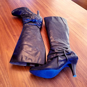 Tall Black  Leather Boots-Soft & Supple